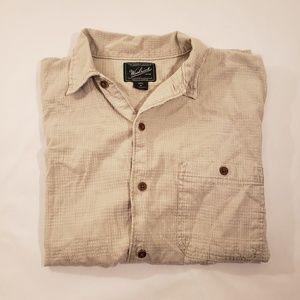 Woolrich Short Sleeve Button Up Mens Medium